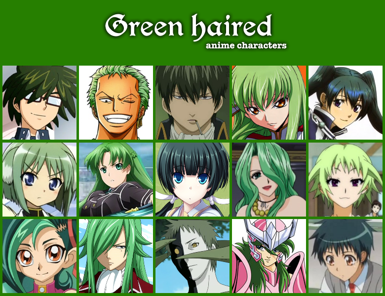 Anime Characters With Green Hair : The gallery for gt green haired anime characters