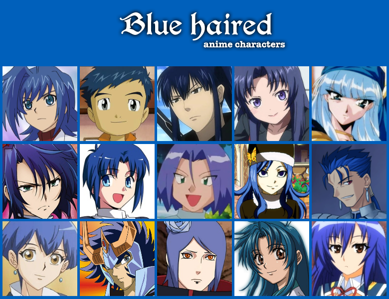Blue Hair Characters