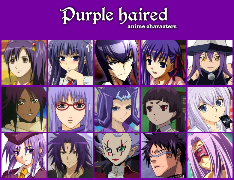 5 7 Anime Characters : Purple haired anime characters by jonatan on deviantart
