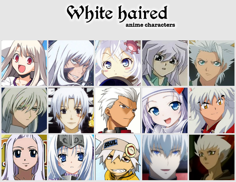 White Haired Anime Characters Female
