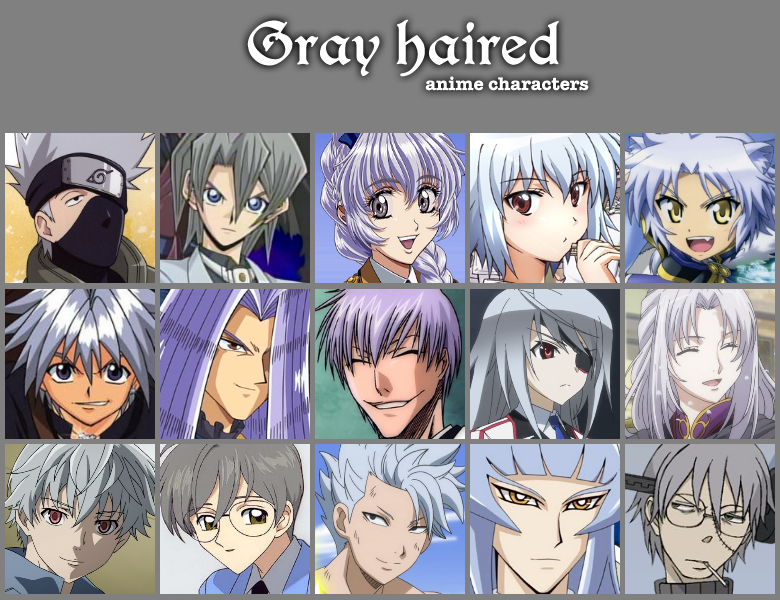 Anime Characters Grey Hair : Gray haired anime characters by jonatan on deviantart
