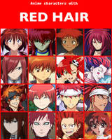 Anime characters with red hair [V2] by jonatan7