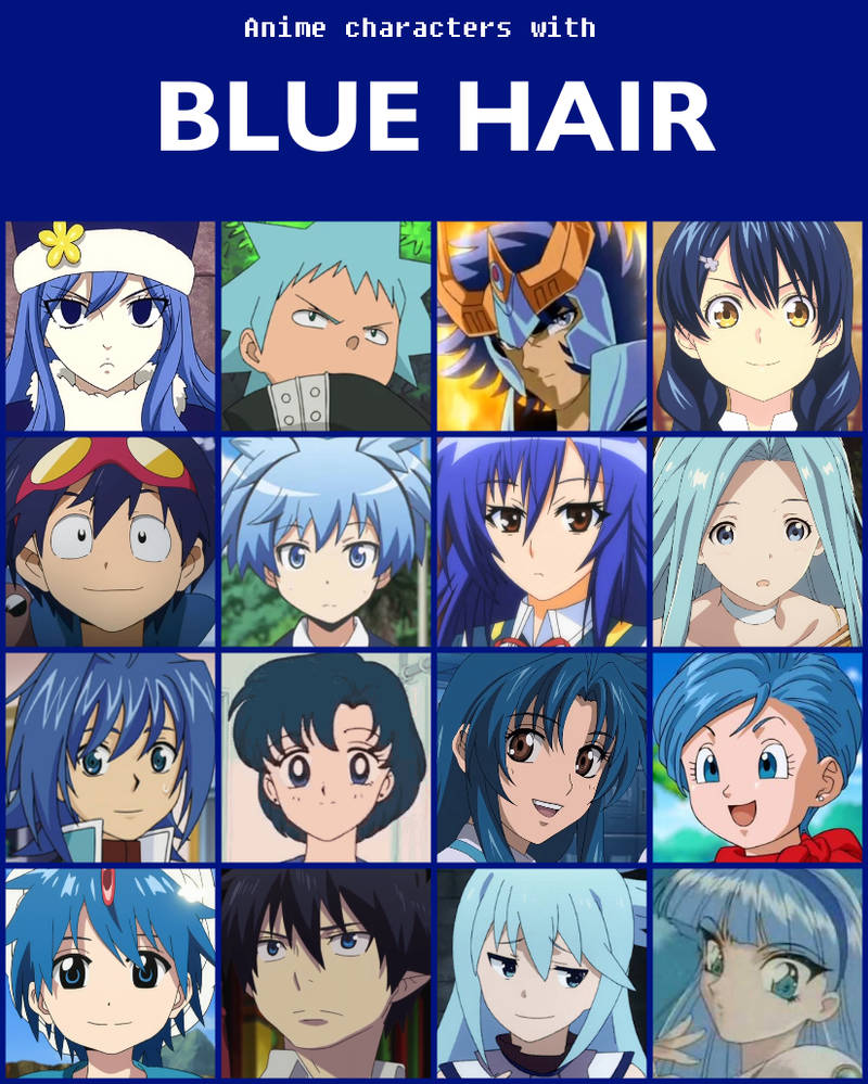 Anime Characters With Blue Hair V2 By Jonatan7 On Deviantart