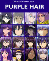 Anime characters with purple hair [V2] by jonatan7