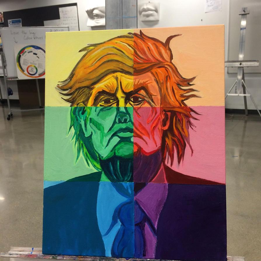 Psychedelic Trump by Yarnelson
