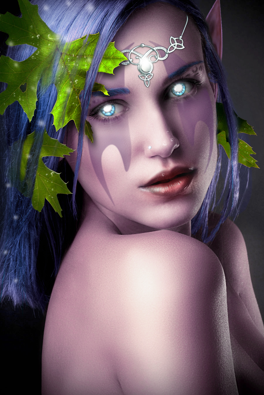 female night elf photo manipulation by fotland on deviantart