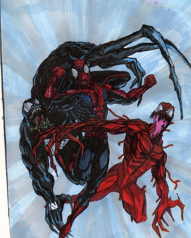 black spiderman vs carnage - photo #19