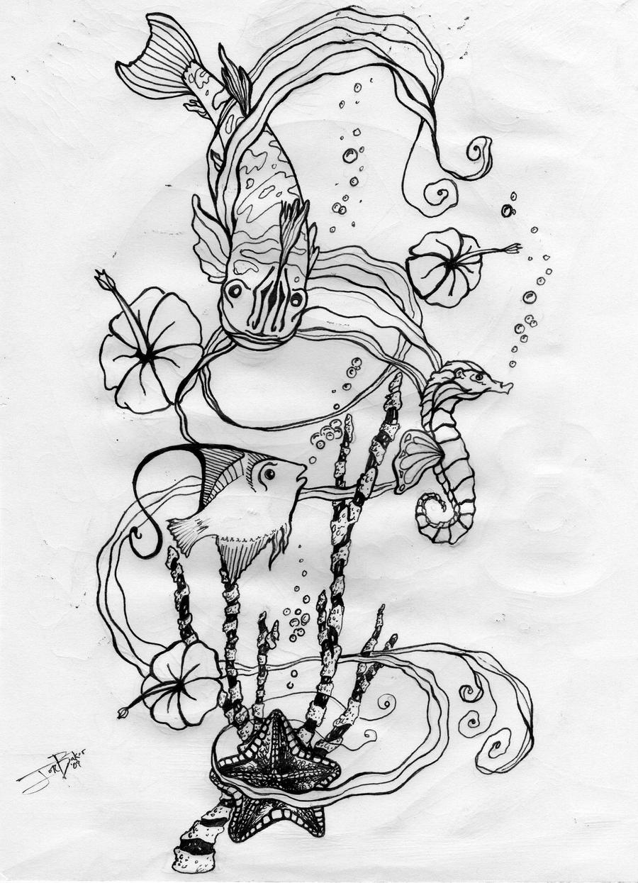 Sea Life Tattoo Design By Freaky7styley On DeviantArt