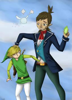 Link and Linebeck - Zelda Phantom Hourglass