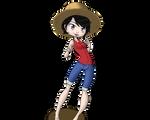 Laura se cosplay en Luffy by Renarde83