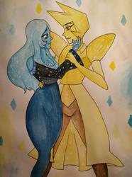SU - Blue and Yellow diamond by Renarde83