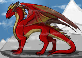 Dragon Guard - Red Dragon by McBaa