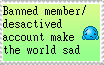 Stamp-Banned Desactived account is sad by zigaudrey