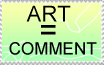 Stamp- ART is a COMMENT by zigaudrey