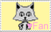 Stamp-Pixel Chix Cat Fan by zigaudrey