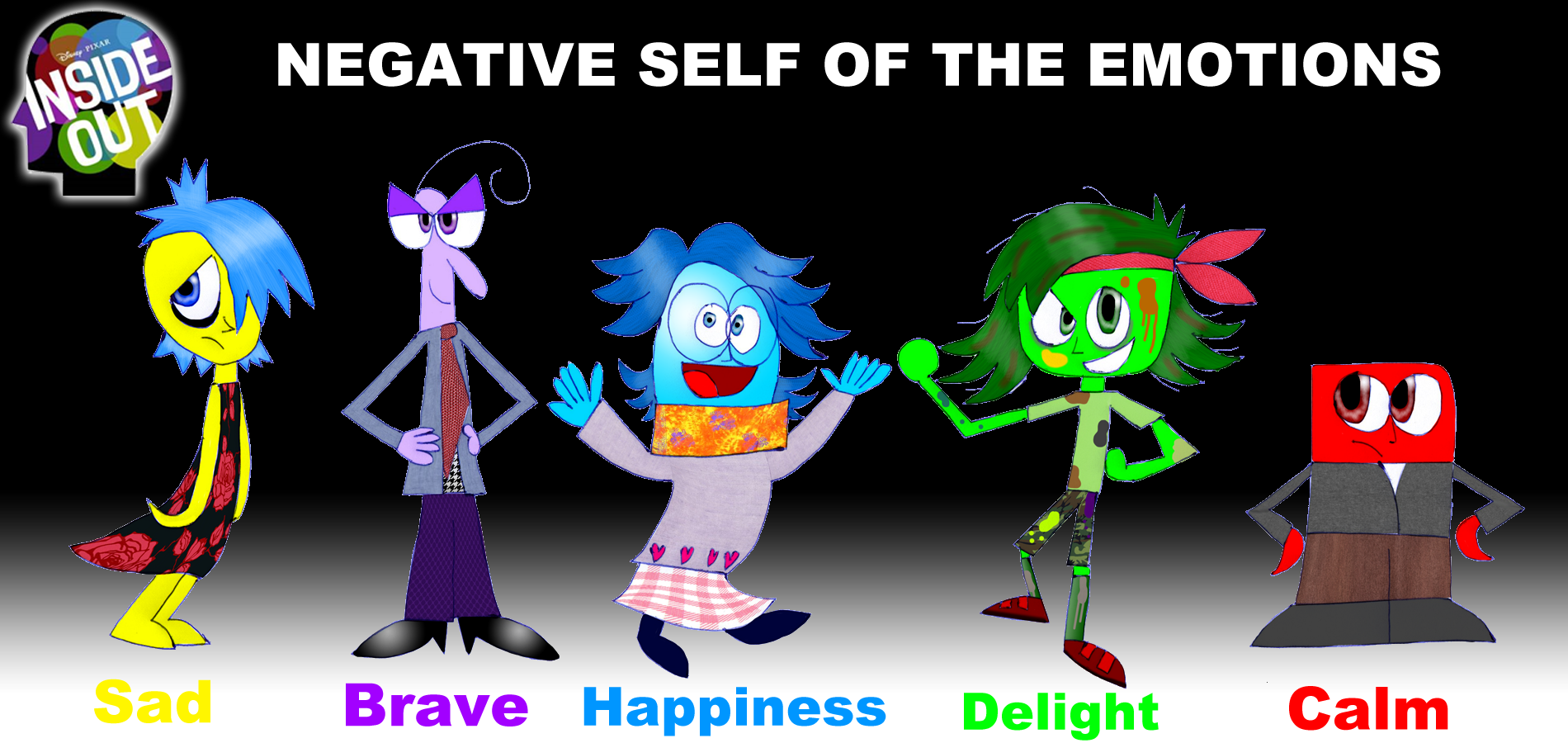 Inside Out Negative Emotions By Zigaudrey On Deviantart
