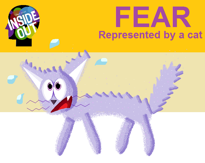Inside Out-Fear represented by a Cat by zigaudrey