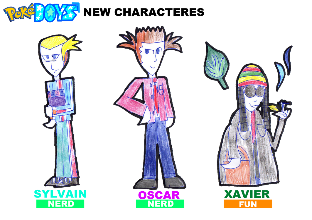 PokeBoys-New Characteres by zigaudrey
