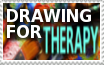 Stamp-Drawing for THERAPY by zigaudrey