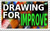 Stamp-Drawing for IMPROVE by zigaudrey