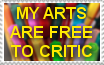 My Arts are Free to Critic-Stamp by zigaudrey