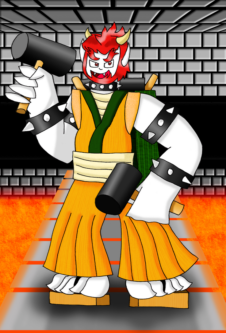 Human Bowser by zigaudrey