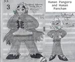 Human Pangoro and Human Pancham by zigaudrey