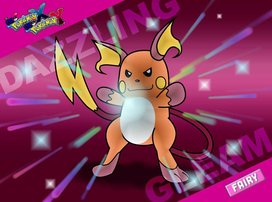 Neo XY-Raichu uses Dazzling Gleam by zigaudrey