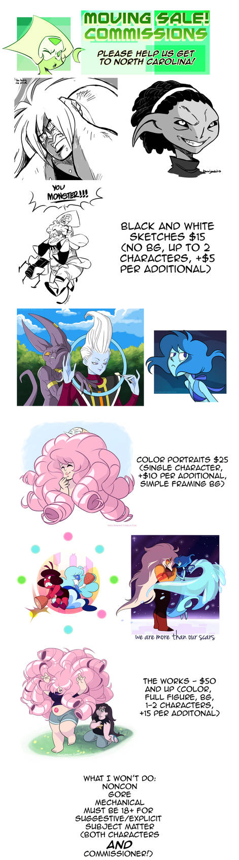 Moving Sale - Commissions!