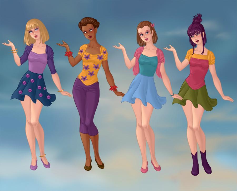 Angelica,Susie,Lil,Kimmy 2 by esmeraldabelle13 on DeviantArt