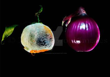 FRUIT AND VEG ON BLACK