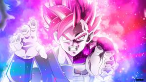 Goku and vegeta BLUE wallpaper Pink version