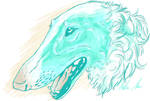 Borzoi in blue