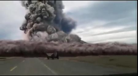 Yellowstone Supervolcano eruption.