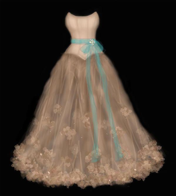 wedding dress by GarnetFlight
