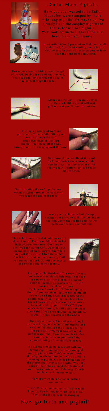 :Sailor Moon Pigtail Tutorial: by GarnetFlight