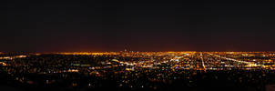 Griffith Panorama at Night by digitalchet