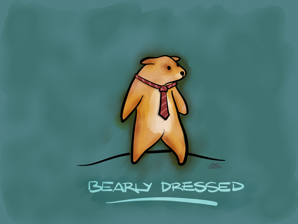 Bearly Dressed by digitalchet