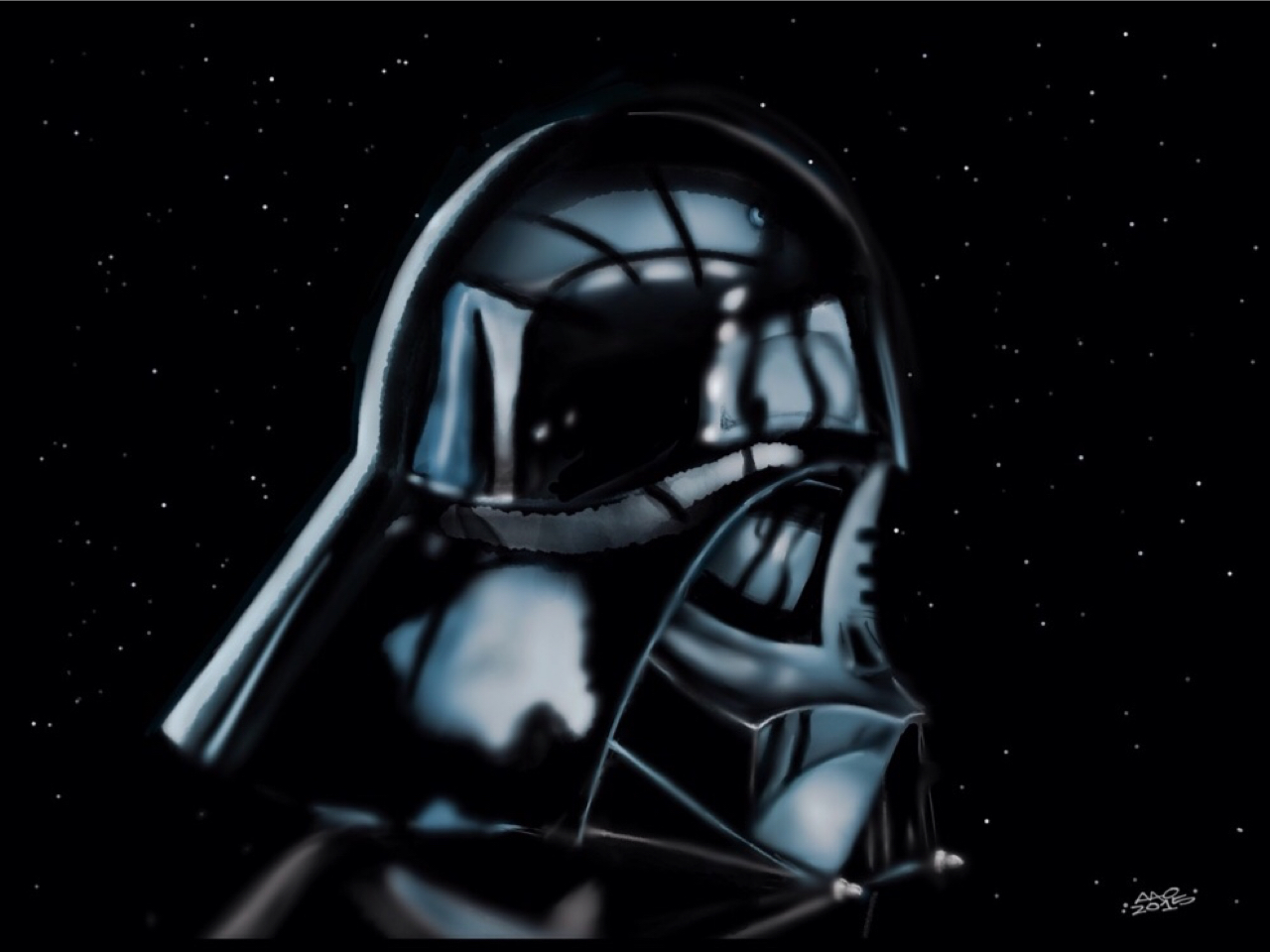 Darth Vader Reflects by digitalchet
