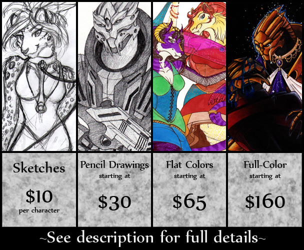 2015 Commission Prices by o-WingedPanther-o