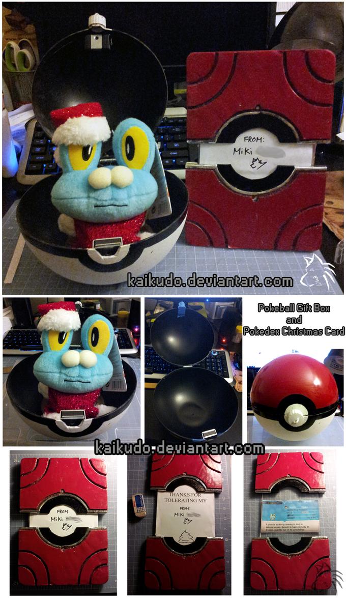 Pokeball Gift Box and Kalos Pokedex Holiday Card by KaiKudo