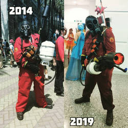5 year glow up Pyro from Team fortress 2