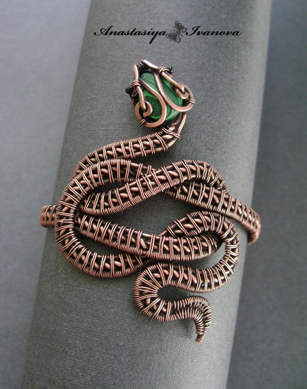 bracelet snake by nastya-iv83 on DeviantArt