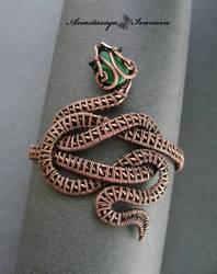 bracelet snake by nastya-iv83