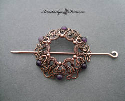 hairpin with amethysts
