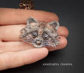 raccoon by nastya-iv83