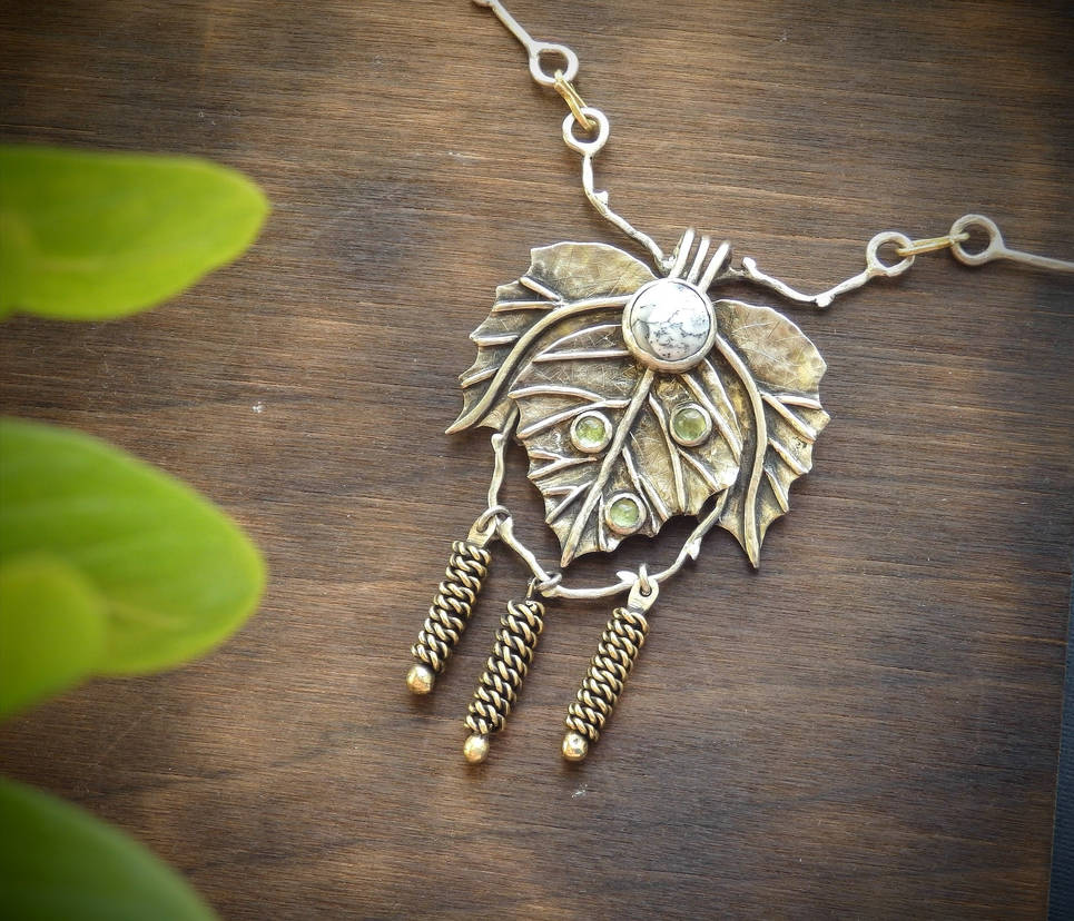 Birch tree necklace by nastya-iv83
