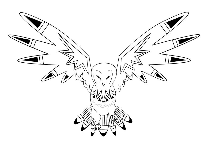 Line Art Owl : Owl line art by neyuu on deviantart