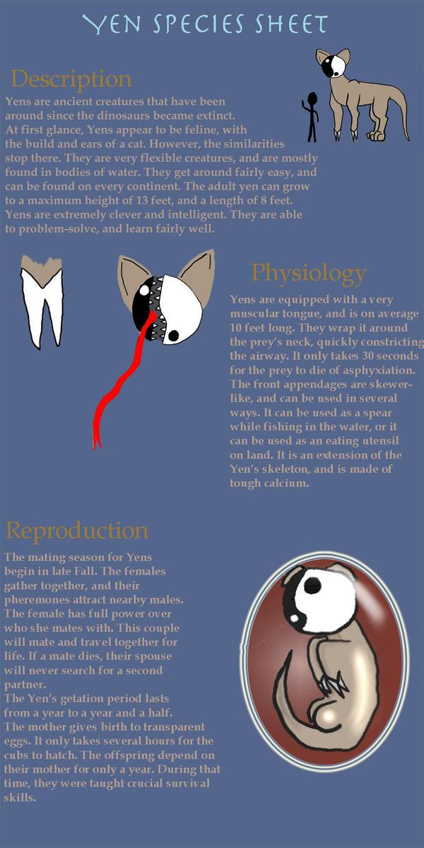 Yen Species Reference Sheet by Nefepants