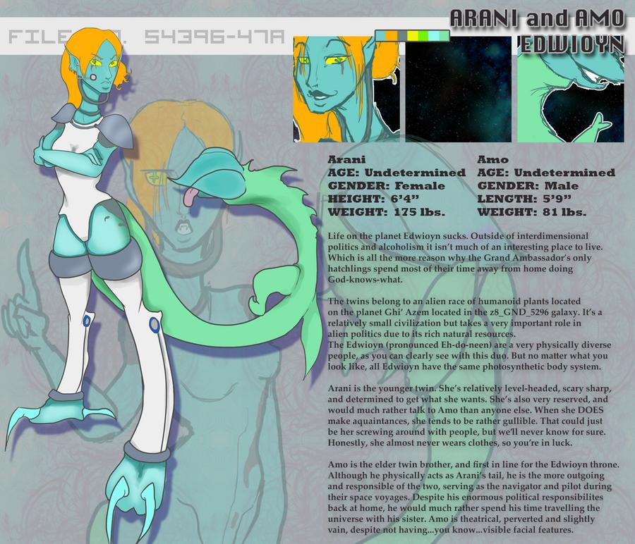 Information Sheet: Arani and Amo by Nefepants